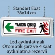 Işıklı Yangın Çıkış Tabelası (Yangın Çıkışı - Fire Exit)