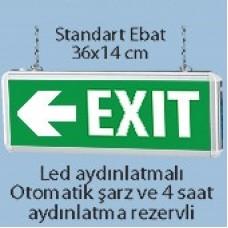 Işıklı Acil Çıkış Tabelası (Exit)