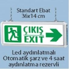 Işıklı Acil Çıkış Tabelası (Çıkış - Exit)