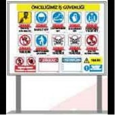 İnşaat Şantiye Alanı İş Güvenliği Tabelası